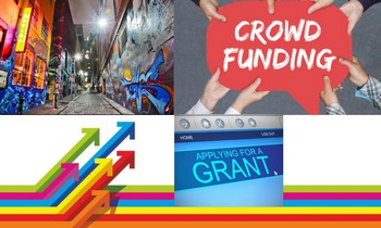 grants, crowdfunding, selling your art online